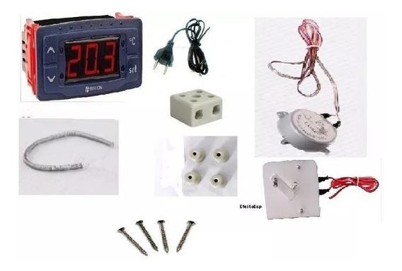 Kit 9 Peças Chocadeira.termostato,motor,resistência E Mais.
