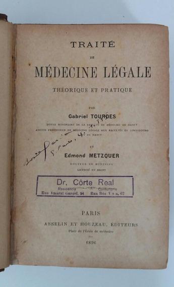 Antigo Livro De Direito Assinado - Sec. Xix - Francês