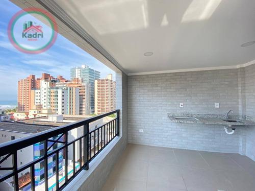 Apartamento Com 2 Dormitórios À Venda, 85 M² Por R$ 420.000,00 - Vila Guilhermina - Praia Grande/sp - Ap5448