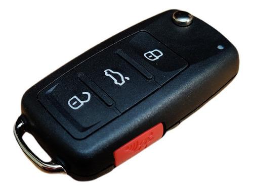 Carcasa Llave Volkswagen 3 Botones + Panico