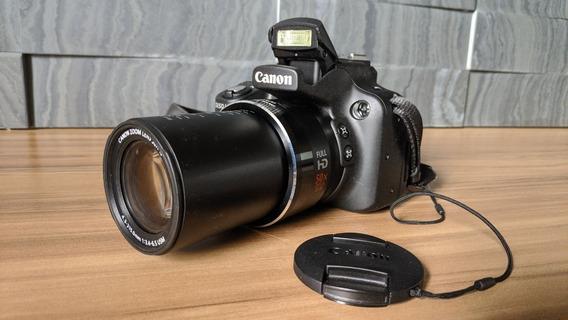 Câmera Canon Powershot Sx50 Hs + Cartão De Memória + Bolsa