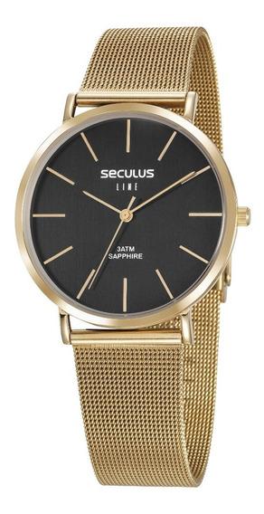 Relógio Seculus Masculino 35009gpsvda2 Line Slin