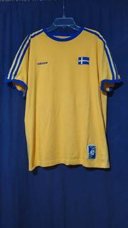 Jersey Suecia Vintage Xl No Brasil Argentina España Alemania