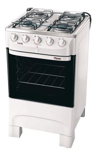 Cocina Tem Isabella Blanca 4 H Encendido  Autolimpiante Pcm