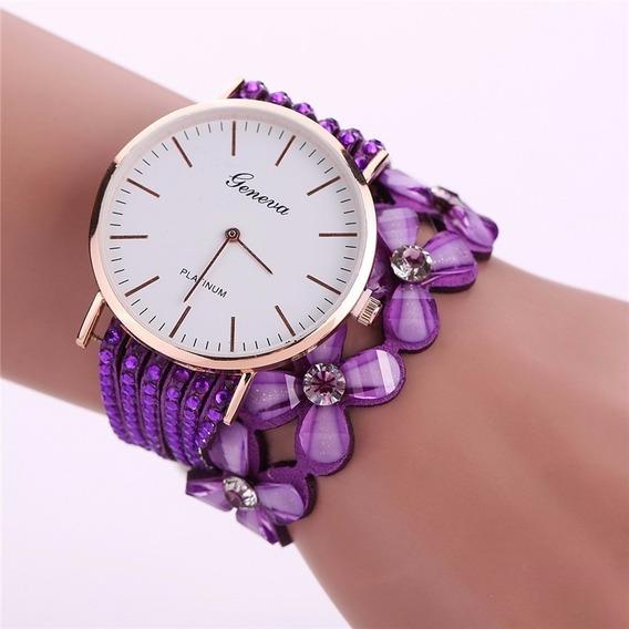 Relógio De Pulso Feminino Lançamento Importado Geneva