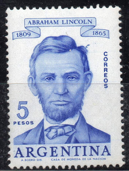 Argentina 1960. 5p Abraham Lincoln C/variedad Mechón