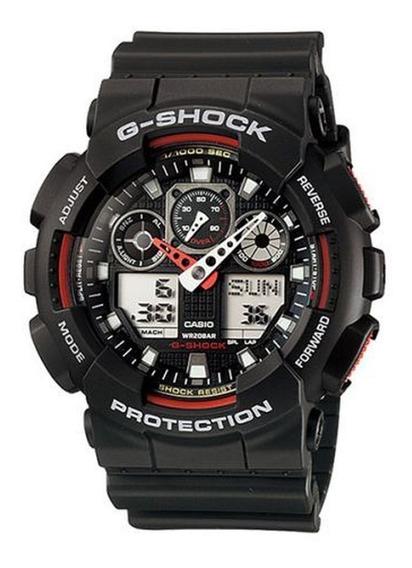 Relogio Masculino Casio G-shock Anadigi Ga-100-1a4dr - Preto
