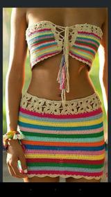 Conjunto De Croche Praia
