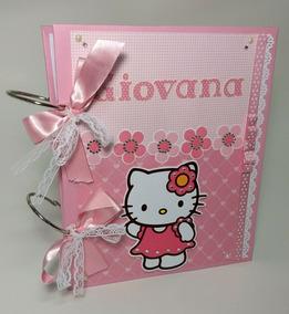 Álbum Infantil Bebê Hello Kitty 60fotos Scrapbook