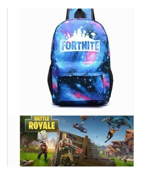 Mochila Fortnite Niños Battle Royal Fornite Brilla Oscurida