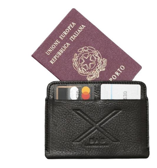 Porta Pasaporte/tarjetero - Cuero Full-grain - 739