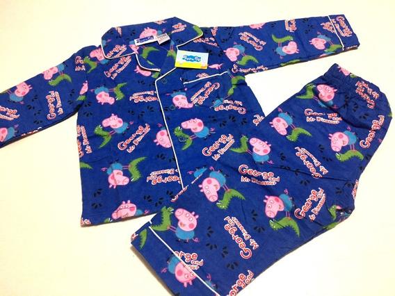 Pijama Flanelado Azul Marinho - 3 Anos