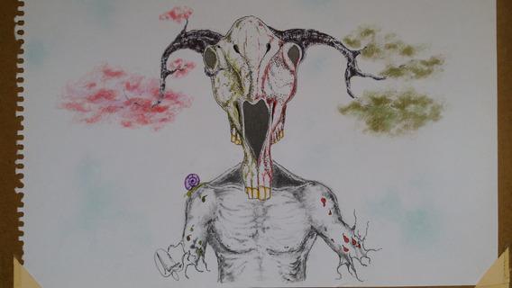 Dibujo Craneo Arte Original