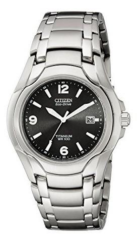 Reloj Citizen Eco drive Titanium Para Hombre Con Fecha,