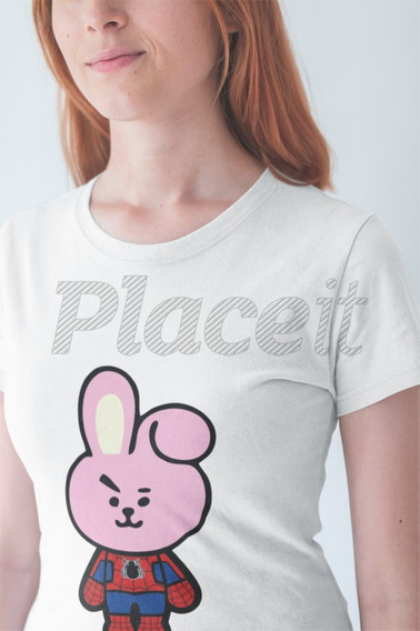 Remera Spider Cooky Bt21 Bts K-pop Niños Y Adultos