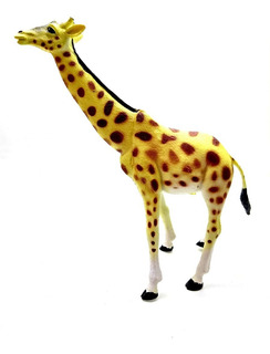 Juguete Animales Selva Goma Jirafa Grande Jungla Animal 24