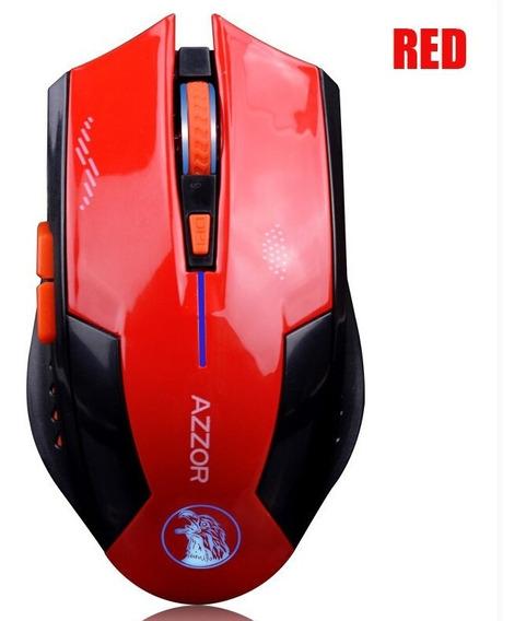 Mouse Azzor Recarregável Sem Fio 2400 Dpi 2.4g Fps