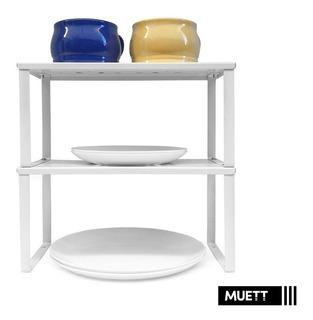Set X2 Estante Para Alacena Organizador De Cocina Muett
