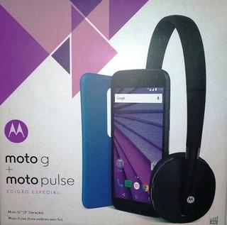 Smartphone Motorola Moto G 3ª Geração + Fone De Ouvido S/fio
