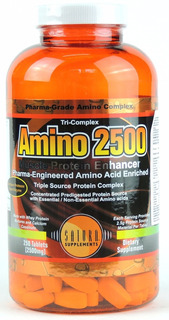 Amino 2500 Tricomplex 250tbs Saturn Eeuu Masa Muscular