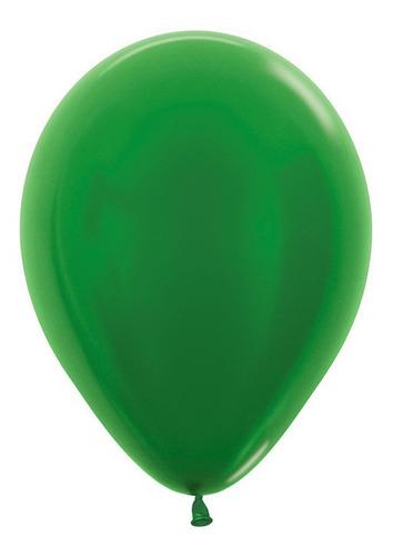 Bolsa Con 20 Globos Metal Verde Selva 12 PuLG