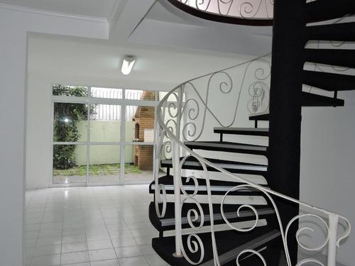 Sobrado Com 3 Dormitórios Para Alugar, 208 M² Por R$ 4.500,00 - Jardim - Santo André/sp - So0341