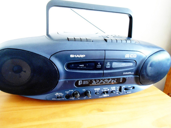 Rádio Cassete Recorder Cd Sharp Wq Cd 220 Clássico! Anos 90