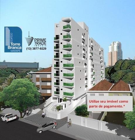 Apartamento Para Venda, 2 Dormitórios, Marapé - Santos - 4733
