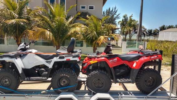 Vendo Conjunto De 2 Quadriciclos E Carreta Para Transporte