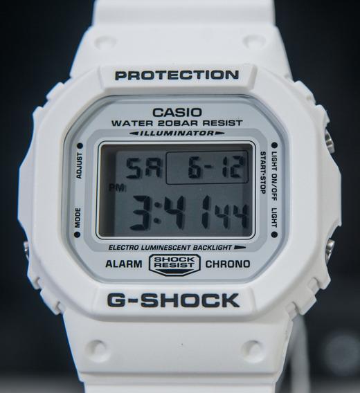 Relógio G Shock Dw 5600 Branco Dw-5600mw Original Lançamento