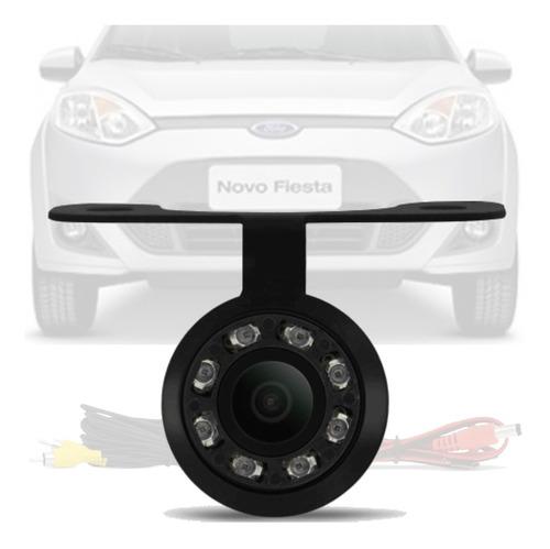 Imagem 1 de 4 de Camera De Ré Borboleta Led Noturna Ford Fiesta 2007/2013