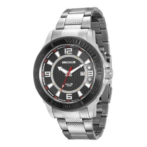 Relógio De Pulso Masculino Seculus Cód. 23561gpsvca1