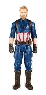 Capitán América Figura 30 Cm Articulada Hasbro Avengers
