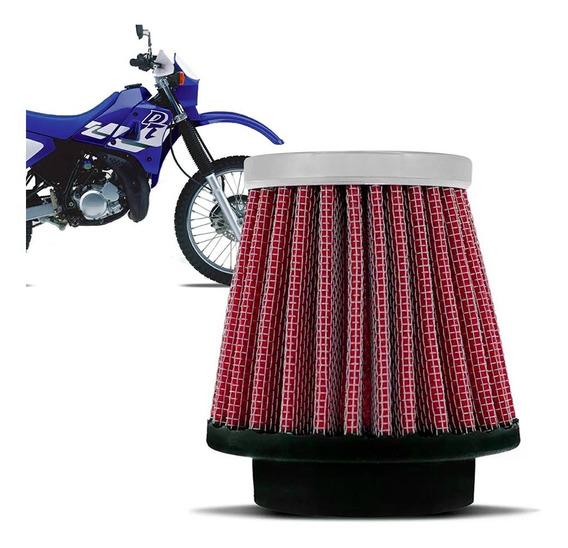 Filtro Esportivo Inbox Rci Yamaha 43mm Dt200 Dt180 Vermelho