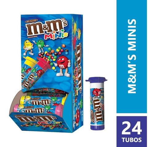 M&ms Milk Choco Minis Tube X24 Unidades - kg a $130