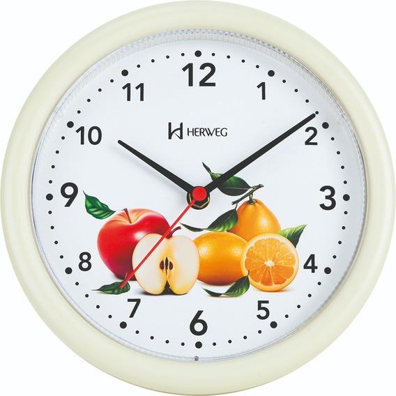 6105 Relógio De Parede Pequeno 22 Cm Marfim Cozinha Herweg