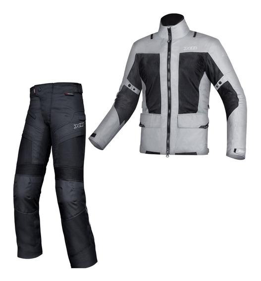 Jaqueta + Calça Impermeável E Ventilada X11 Motociclista
