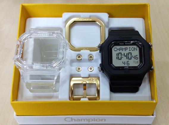 Relógio Champion Yot Orig Troca Pulseiras Garantia Nf Caixa