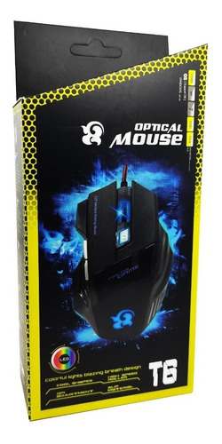 Combo Pad Mouse Cuadrado + Mouse 7 Botones Gaming Extreme T6