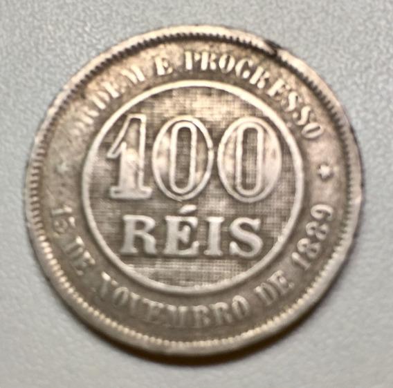 Moeda Antiga Brasileira - 100 Réis 1889