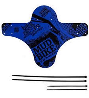 Paralama Dianteiro Para Bicicleta Mud Bike Mtb Azul.