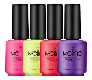 Esmalte Meline Semipermanente X3 Unidades Color Gel Uv/led