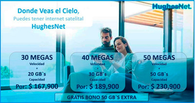 Hughesnet Internet Satelital Colombia / Ventas Todo El Pais