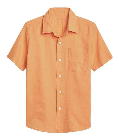 Camisa Niño Casual Manga Corta Estampado Algodón Gap