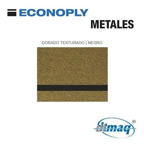 Metalex Plancha Placa Laserable Econoply Metalizado 120x60cm