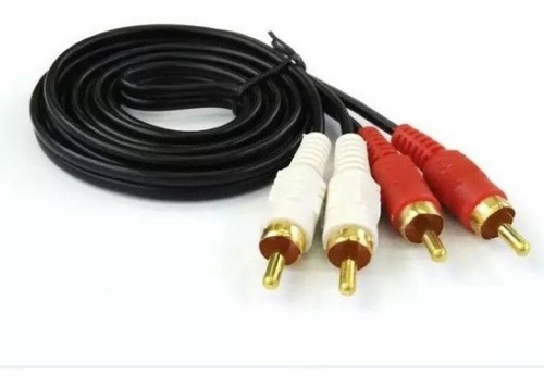 Cable 2 Rca A 2 Rca Macho 3 Mts Audio Dorada  Titan Belgrano