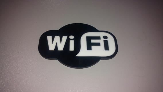 Sinalização Wi-fi Em Acrílico