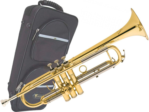 Trompete Eagle Tr-504 Sib Estojo Case Luxo Profissional