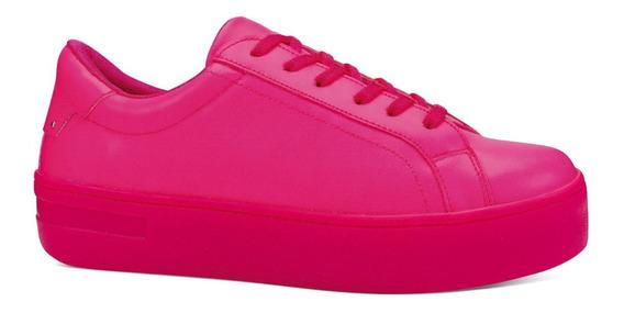 Be & Red Tenis Sneakers Casuales Neon Plataforma 4cm 6830621