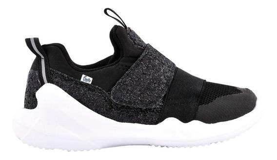 Zapatillas Flexy Negra Glitter Ultraliviana - Footyoficial